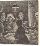 Potato Eaters, 1885 Wood Print
