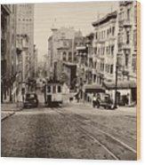 Powell Street Hill - San Francisco 1945 Wood Print