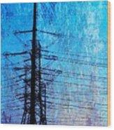 Power In Blue Wood Print