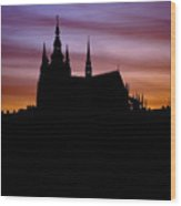 Prague Castle Wood Print by Michal Boubin