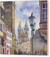 Prague Old Town Square 01 Wood Print