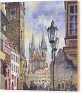 Prague Old Town Square 01 Wood Print by Yuriy  Shevchuk