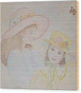 Prairie Sun Hats Wood Print