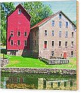 Prallsville Mill Wood Print