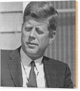 President John Kennedy Wood Print by War Is Hell Store