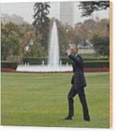 President Obama - White House South Lawn #1 Wood Print