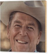 President Ronald Reagan Wood Print