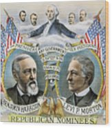 Presidential Campaign, 1888 Wood Print