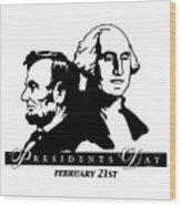 President's Day Wood Print