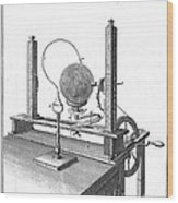 Priestleys Electrostatic Machine, 1775 Wood Print
