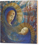 Primordial Mother Gives Birth To Solar Father Wood Print