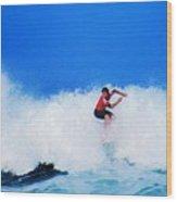 Pro Surfer Alex Ribeiro Wood Print