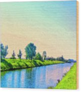 Provence Canal Wood Print