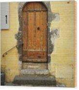 Provence Door Number 6 Wood Print