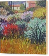 Provence In Bloom Wood Print