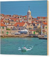 Prvic Sepurine Waterfront And Stone Architecture View Wood Print