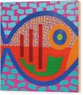 Psychedelic Fish Wood Print by John  Nolan