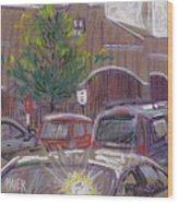 Publix Parking Wood Print