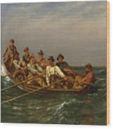 Pull For The Shore Wood Print