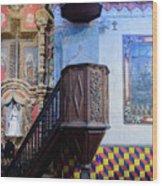 Pulpit - San Xavier Mission - Tucson Arizona Wood Print