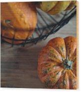 Pumpkin Wood Print