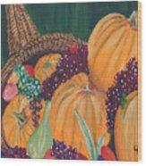 Pumpkin Plenty Wood Print
