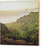 Puu O Kila Lookout, Kauai, Hi Wood Print