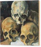 Pyramid Of Skulls Wood Print