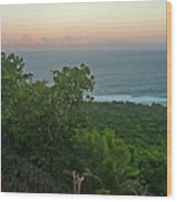Quam Sunrise Wood Print