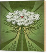 Queen Anne's Lace Print Wood Print
