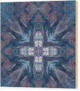 Queen Fairy Cross Wood Print