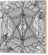 Queen Of Spades 2 Wood Print