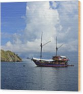 Silent Diving Bay On The Coast Of Sulawesi Wood Print
