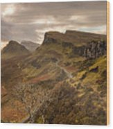 Quiraing Skye Wood Print