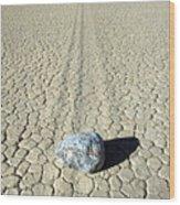 Racetrack In Death Valley Wood Print
