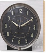 Radium Dial On Clock Wood Print
