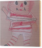 Rag Doll Wood Print