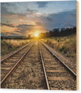 Railroad Wood Print