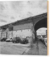 railway viaduct in oxford street former industrial area of digbeth now a conservation area Birmingha Wood Print