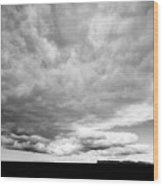 Rain Clouds And Weather Front Move Over Ring Road Hringvegur Across The Skeidararsandur Sand Plain S Wood Print