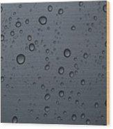 Rain On A Window Wood Print