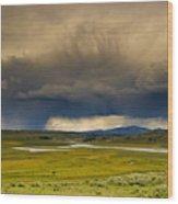 Rain Sky Wood Print