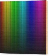Rainbow Aurora Wood Print