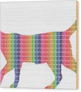 Rainbow Cat Wood Print
