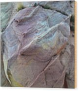 Rainbow Colored Sandstone In Valley Of Fire Wood Print