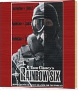Rainbow Six Wood Print