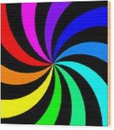 Rainbow Spectral Swirl Wood Print