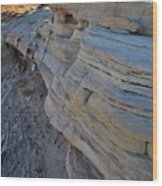 Rainbow Wave Of Sandstone In Valley Of Fire Wood Print