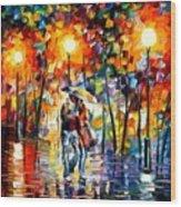 Rainy Evening Wood Print