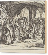 Raising Of Lazarus Wood Print